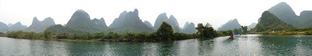 Rafting on 遇龍河, Panorama.jpg
